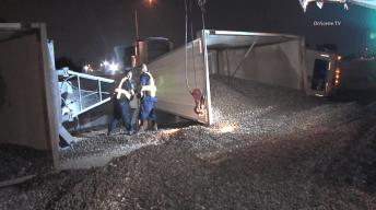 Lanes Reopen on 5 Fwy After Debris Spills in Crash