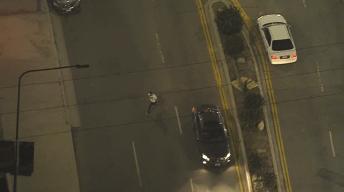 Pursuit Driver Ditches Vehicle, Runs Into LA River Wash