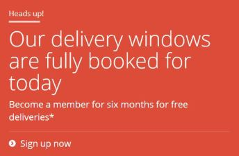 Google Same-Day Delivery Too Popular to Use