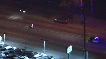 Motorcycle Pursuit Ends in Wreck, Rider Takes Off