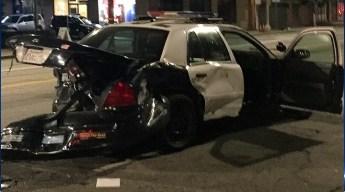 Police Crash During Pursuit, Officers Hurt
