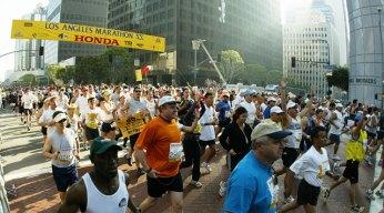 LA Marathon Course Map 2009