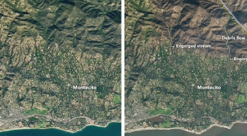 NASA Images Show Montecito Before and After Two Disasters