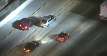 CHP Pursuit in the San Fernando Valley Concludes in South LA