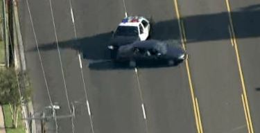 Pursuit Driver Surrenders in Front of Police Station