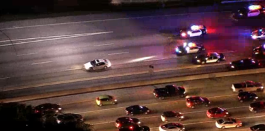 Police Chase Vehicle in San Fernando Valley