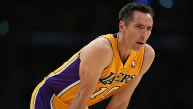 Steve Nash Back at Lakers Practice