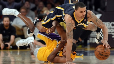 Lakers at Pacers: Opposites Attract