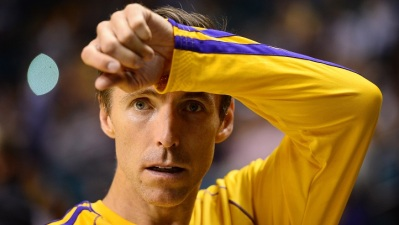 Steve Nash At Monday's Lakers Practice