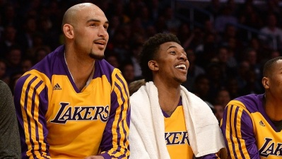 Lakers Practice: Young, Sacre Injuries