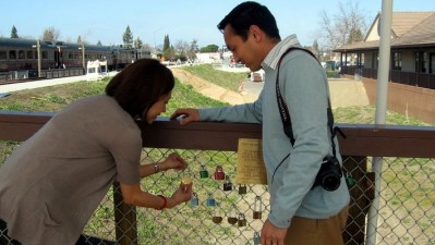 Visiting Napa's Love Lock Bridge