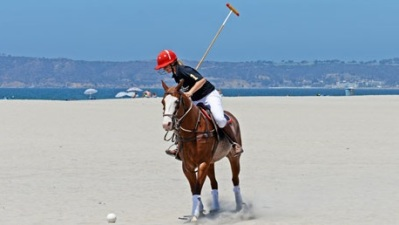 Beach Polo Swings at The Del