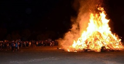 Solvang's Year-Beginner of a Bonfire
