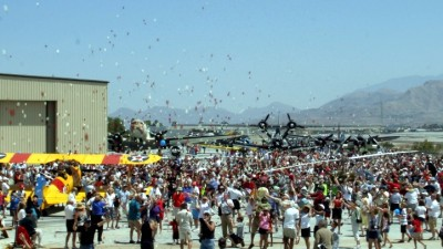 3,000 Carnations: Palm Springs Flower Drop