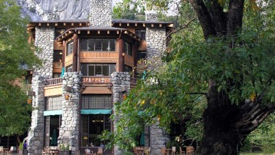 Raising a Glass at the Ahwahnee