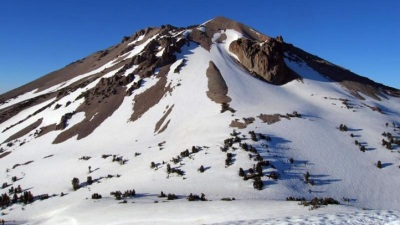 Snowy Outing at Lassen Volcanic