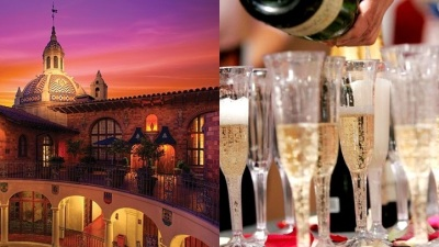 Champagne Dinner at the Mission Inn