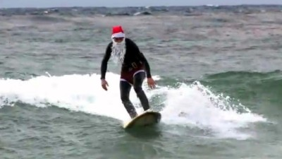 Surfing Santa Competition