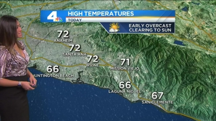 Wide cloud cover will burn off into afternoon sunshine. Shanna Mendiola has the forecast for Today in LA on Saturday, May 28, 2016.