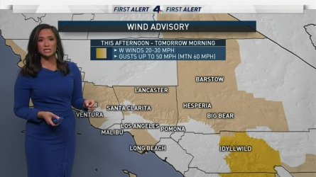 <p>A small system is approaching Southern California, bringing the slight chance of drizzle for some areas. Once the offshore showers move through the basin, gusts can be expected in desert areas and in the South Bay. Shanna Mendiola has your First Alert Forecast on Thursday, April 19, 2018.&nbsp;</p>