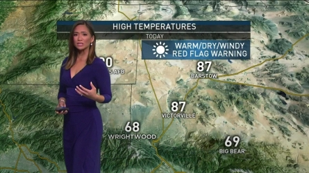 Santa Ana winds are expected across SoCal this weekend. With high temperatures in store, fire danger is also elevated. Shanna Mendiola with the latest forecast on Saturday, Sept. 24, 2016.