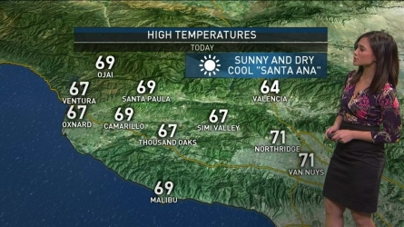 Strong Santa Ana winds were expected to create another chilly windy day in SoCal. Shanna Mendiola has your weekend First Alert Forecast on Saturday, Dec. 3, 2016.