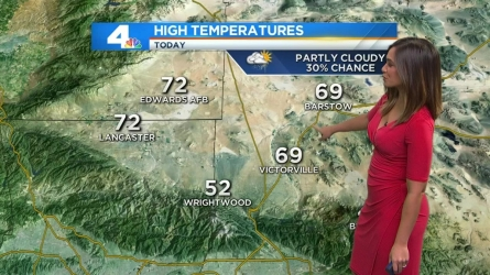 The morning will get off to a cold start with showers in some areas across SoCal and possible thunderstorms. Shanna Mendiola has the forecast on Saturday, April 30, 2016.