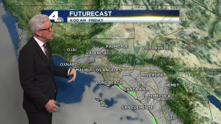 There will be overnight and morning clouds again Thursday, with afternoon clearing. Fritz Coleman has the forecast for the NBC4 News at 5 and 6 p.m. on May 25, 2016.