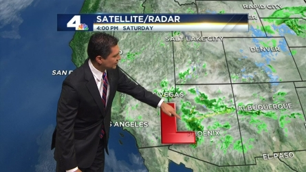 Rain is expected in the evening in parts of the San Gabriel Valley, Inland Empire and mountains. Anthony Yanez reports for the NBC4 News at 4 on Saturday, April 30, 2016.