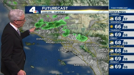 Cooler than average temperatures will continue through the week. Fritz Coleman has the forecast on the NBC4 News at 5 and 6 p.m. on May 23, 2016.