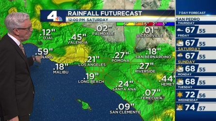 It will be cooler Thursday with chances of storms in parts of SoCal. Fritz Coleman has the forecast for the NBC4 News at 5 and 6 p.m. on May 4, 2016.