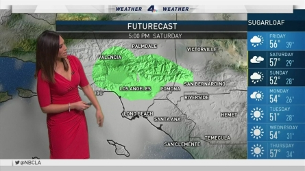 A storm weakened by the time it arrived in Southern California. Shanna Mendiola reports for the NBC4 News at 11 a.m. on Friday Oct. 28, 2016.