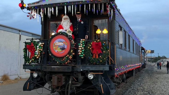 Meet Santa on Dec. 2, along the Fillmore & Western Railway, and donate a toy, too. Sweet things? Mr. Kringle'll arrive with candy canes and coloring books for kids waiting to greet him.