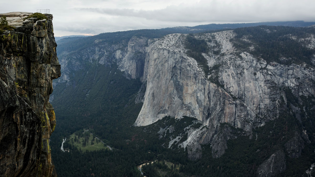 This May 18, 2015, file photo shows Taft Point in Yosemite National Park, California.