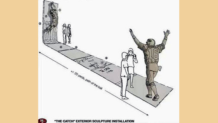 A sketch of the new statues of