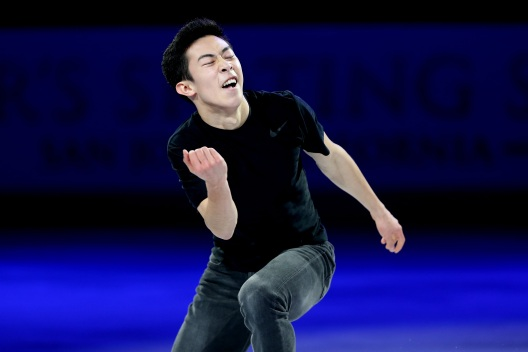 Olympic Figure Skater Nathan Chen in Action