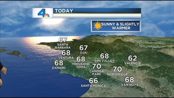 Weather Forecast For November 11 2012 Nbc Southern California
