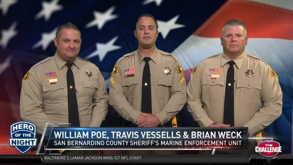 The Challenge Hero of the Night: San Bernardino County Sheriff's Marine  Enforcement Unit