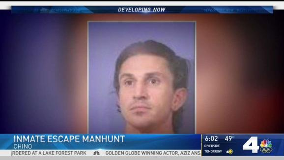 Search underway for escaped inmate nbc southern california sponsored publicscrutiny Choice Image