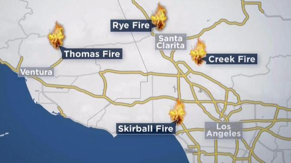 Thomas Fire Continues Raging In Ventura County Nbc Southern California