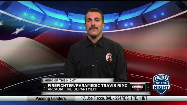 The Challenge Hero of the Night: Firefighter Travis Ring
