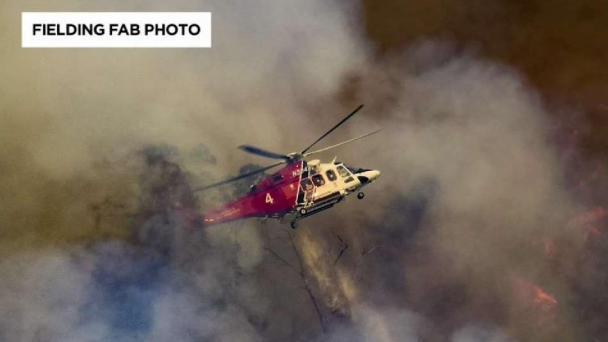 LAFD Chopper Makes Emergency Landing During La Tuna Fire