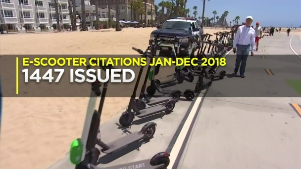 Police Crack Down on Electronic Scooter Scofflaws