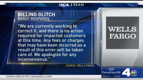 Wells Fargo Apologizes for Billing Glitch