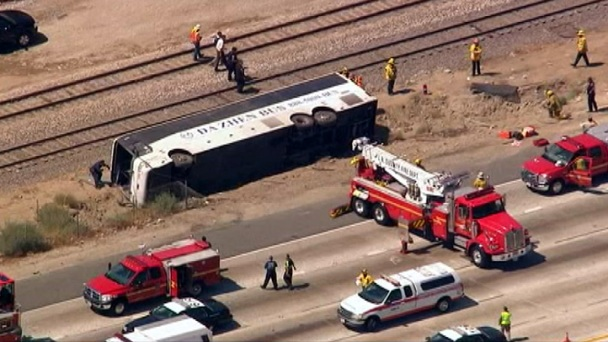 Tour Bus Driver Blamed in Crash: CHP