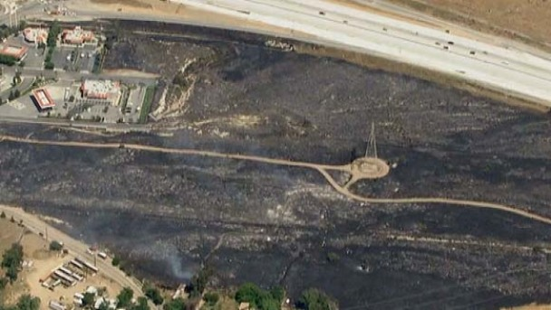 Crews Mop Up Hot Spots From Freeway-Closing Fire