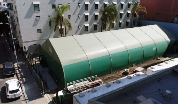 Inside the Massive Tent That Might Be a Partial Solution to Homelessness in LA