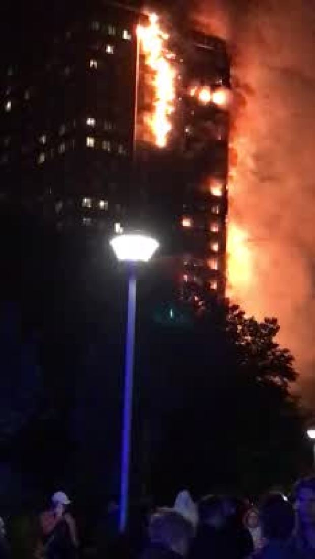 [NATL] Firefighters Battle London Apartment Blaze