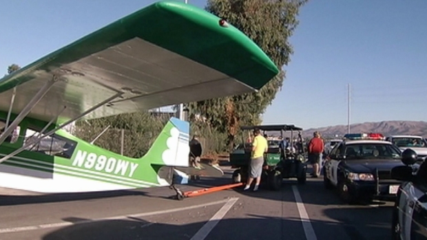 Small Plane Lands on Capitol Expressway in San Jose