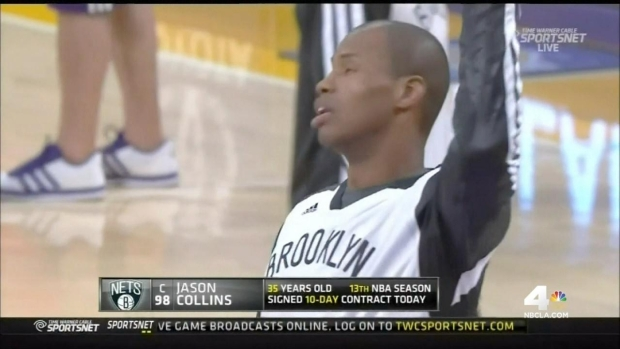 [LA] Jason Collins Plays Historic NBA Game